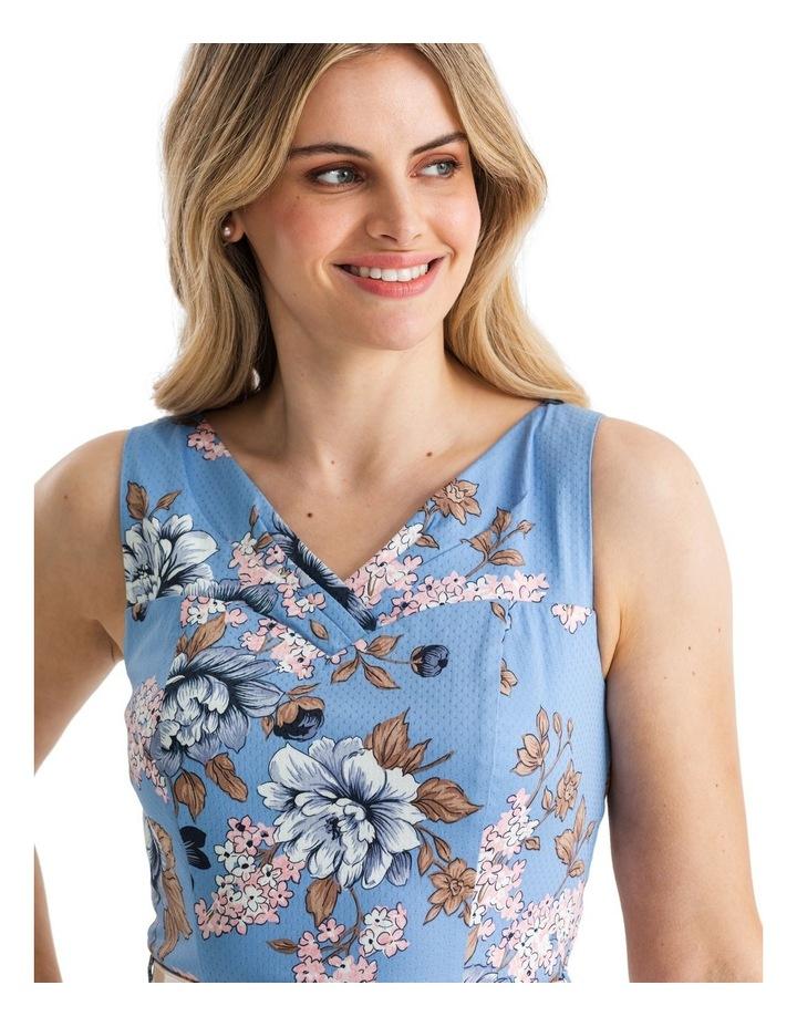 True Blue Floral Dress image 3