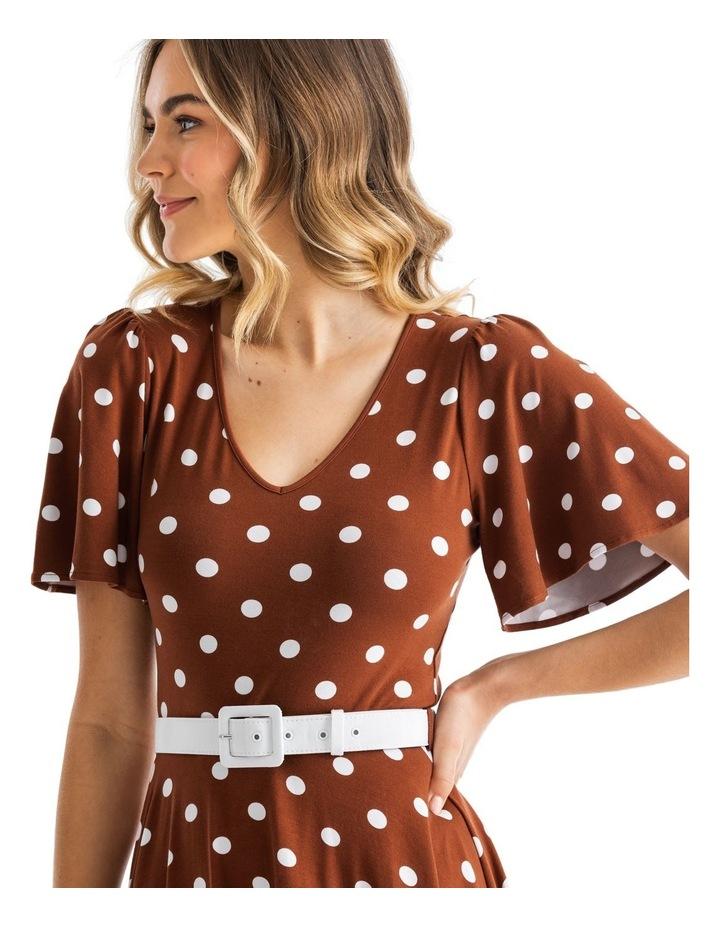 Toffee Spot Jersey Dress image 3