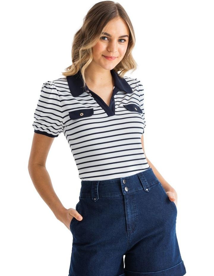 Refresher Stripe Polo image 1