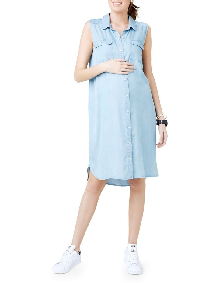 Sleeveless Weekend Shirtdress image 1