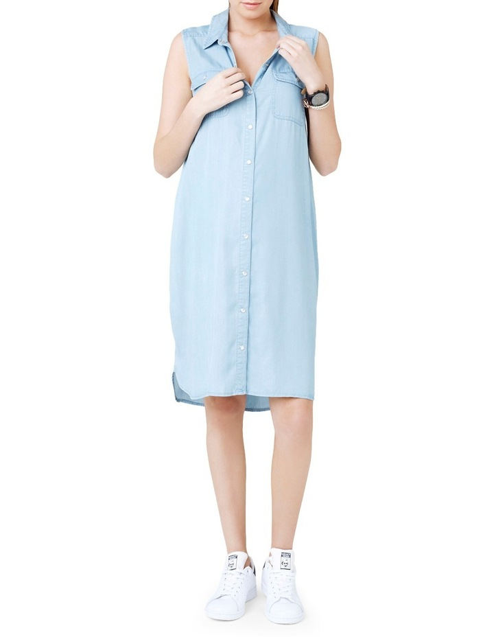 Sleeveless Weekend Shirtdress image 4