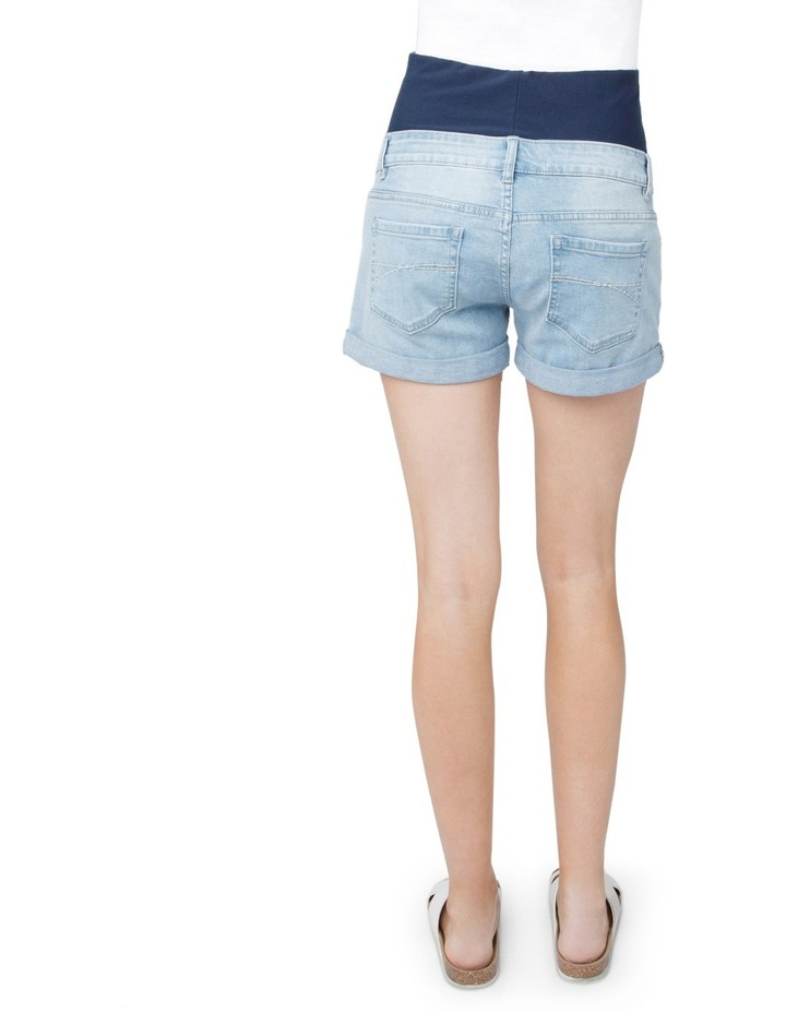 Denim Shorty Shorts image 3