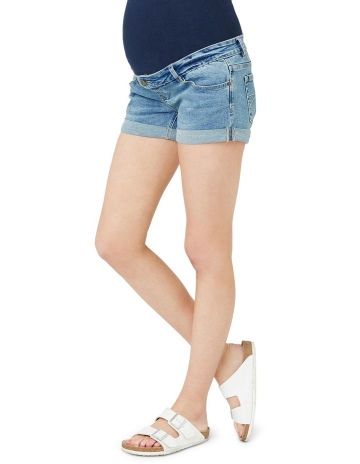 Denim Shorty Shorts image 2