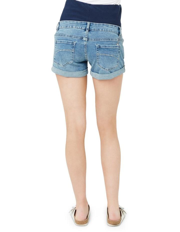 Denim Shorty Shorts image 3