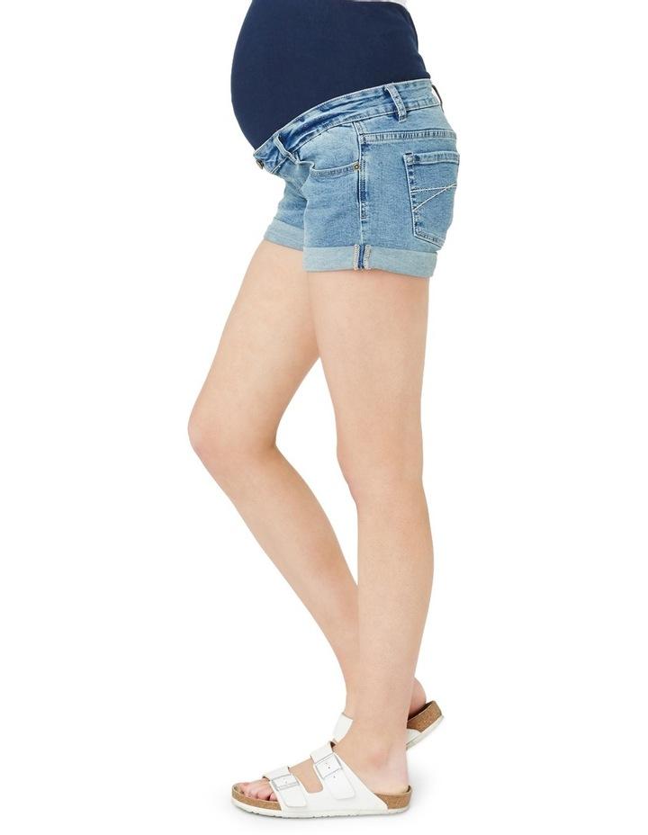 Denim Shorty Shorts image 4