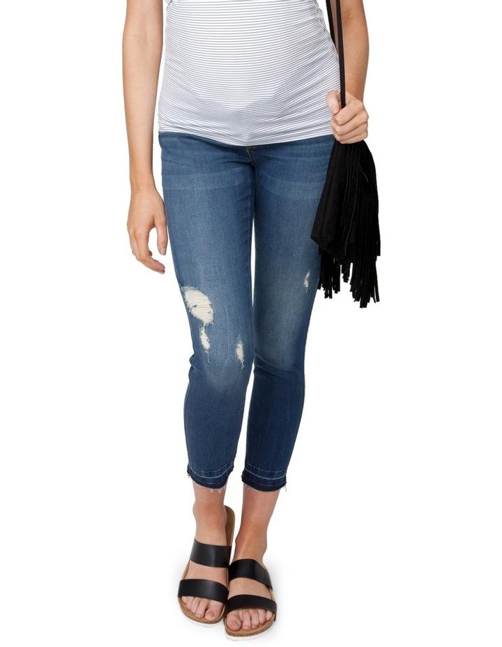 Unhemmed Vintage Cropped Jean image 1