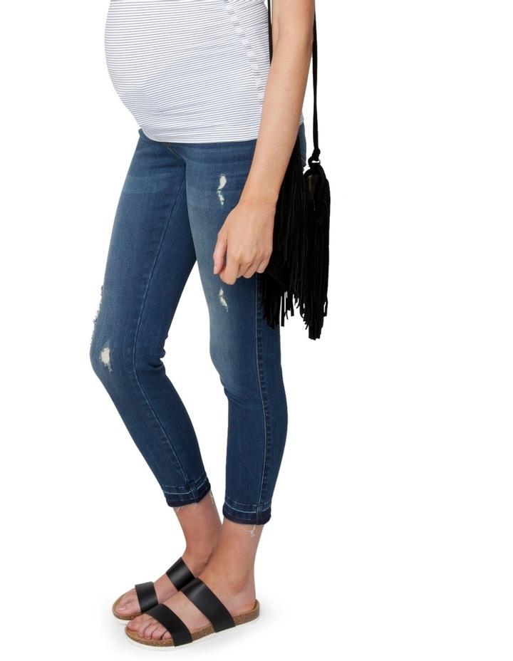 Unhemmed Vintage Cropped Jean image 2