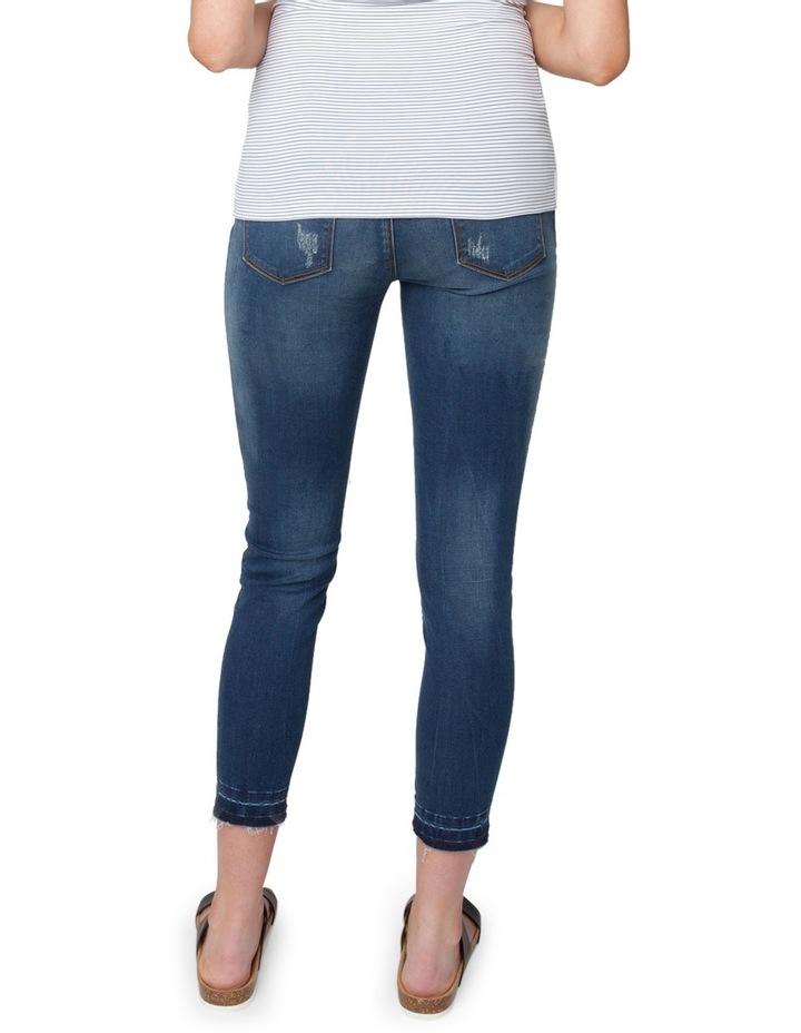 Unhemmed Vintage Cropped Jean image 3