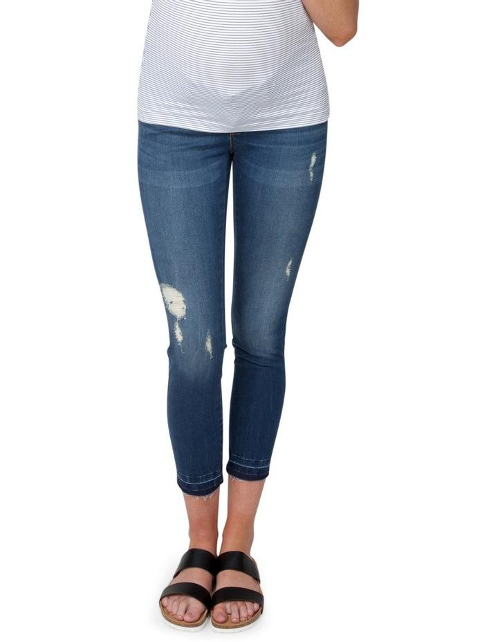 Unhemmed Vintage Cropped Jean image 4