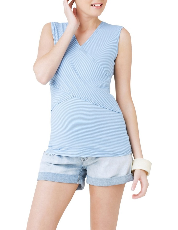 Embrace Mini Stripe Nursing Tank image 1