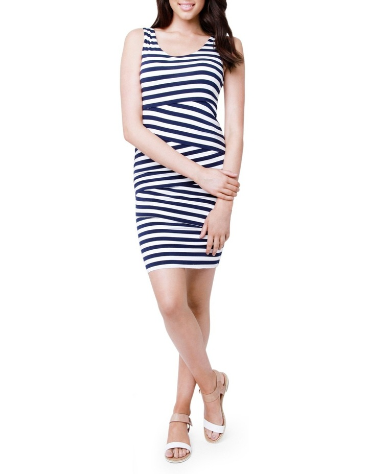 Love Your Body Stripe Nursing Dress image 1