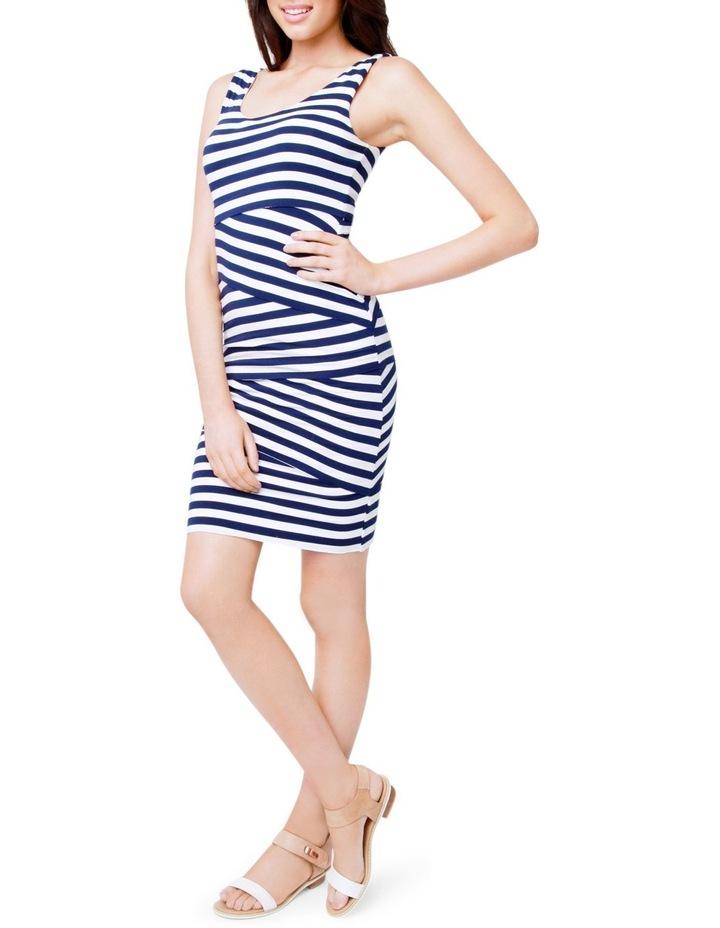 Love Your Body Stripe Nursing Dress image 2