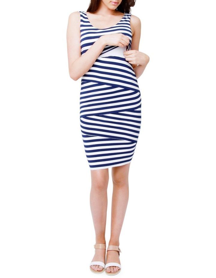 Love Your Body Stripe Nursing Dress image 4