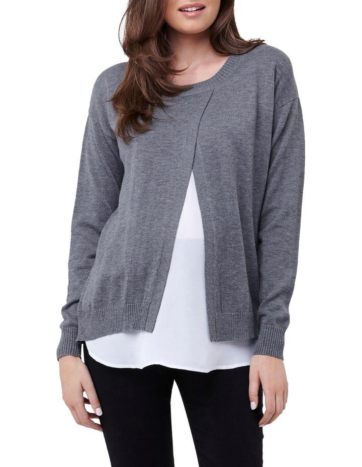 Cross Front Nursing Sweater image 1