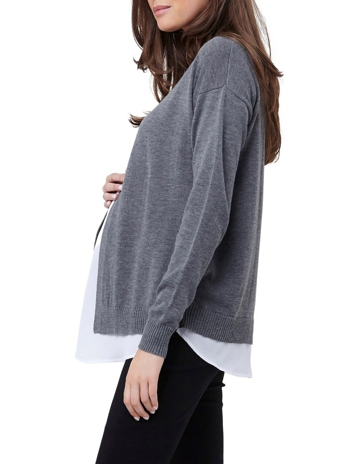 Cross Front Nursing Sweater image 2