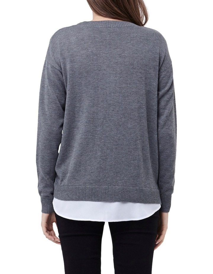 Cross Front Nursing Sweater image 3