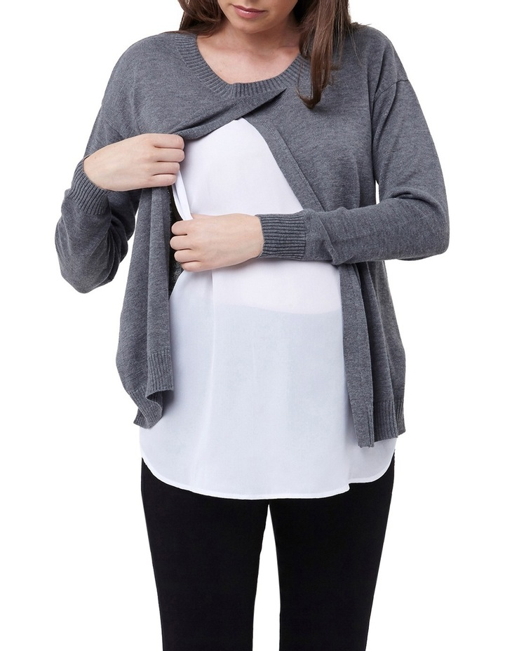 Cross Front Nursing Sweater image 4