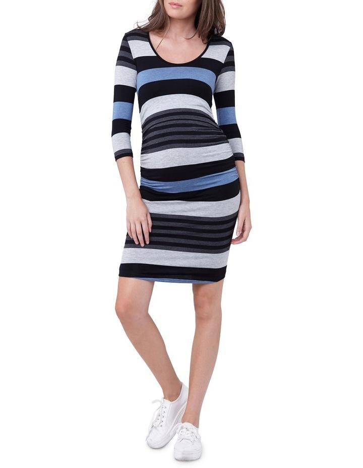 Striped Nursing Tube Dress-LS image 1