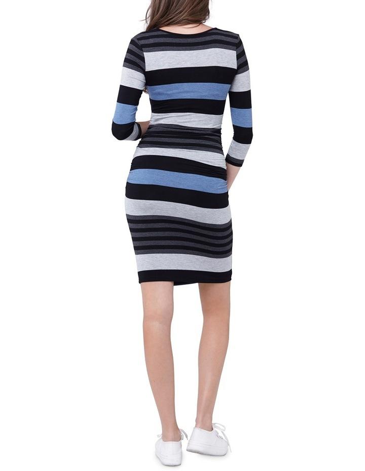 Striped Nursing Tube Dress-LS image 3