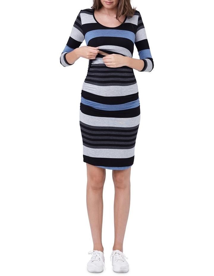 Striped Nursing Tube Dress-LS image 4