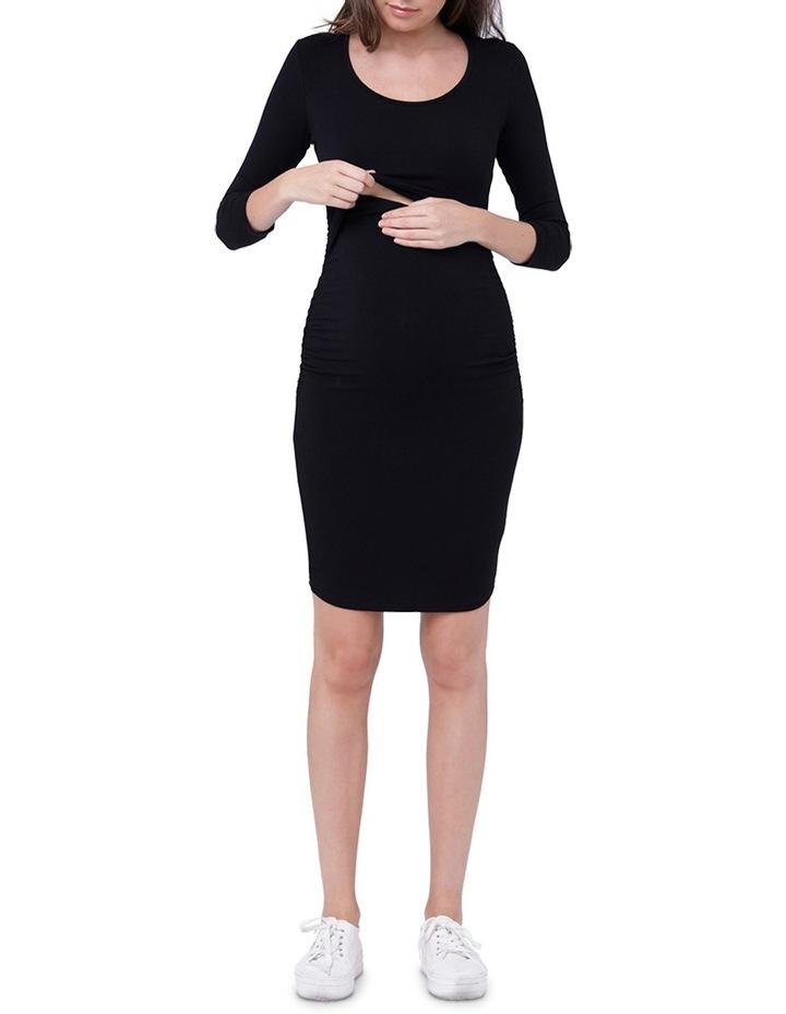 Nursing Tube Dress 3/4 Sleeves image 4