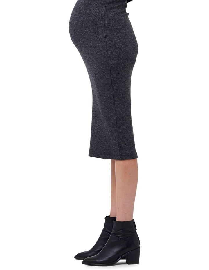 Ribbed Knit Pencil Skirt image 3