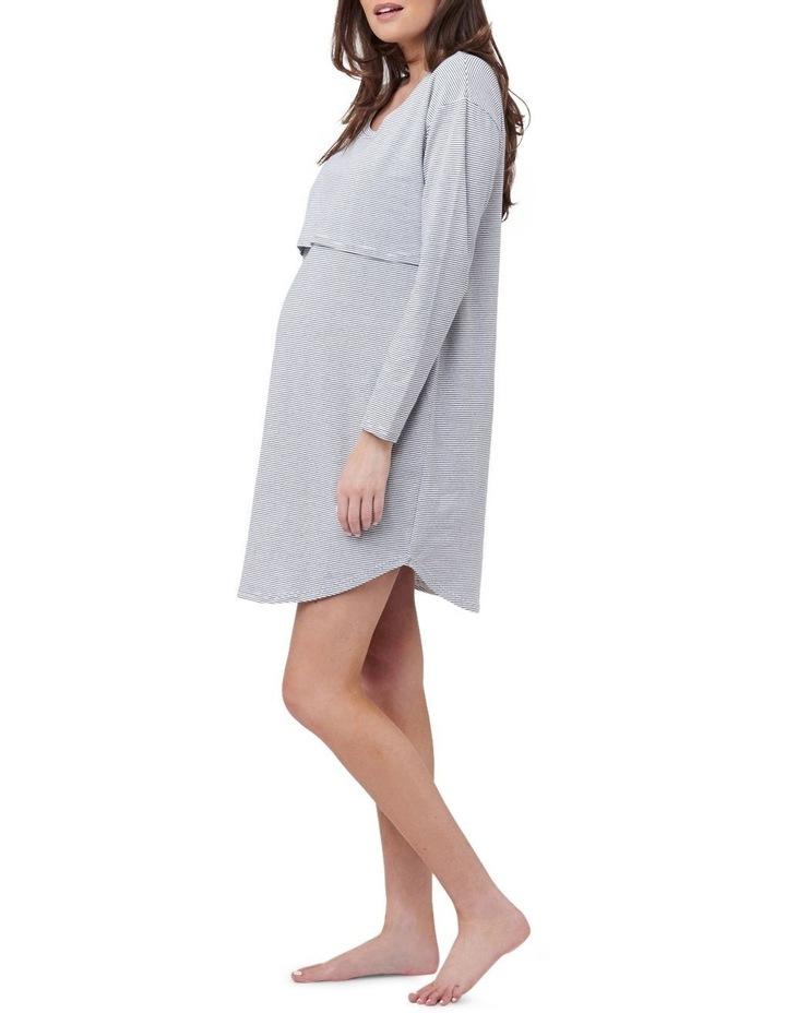 Long Sleeve Nursing Nightie image 2