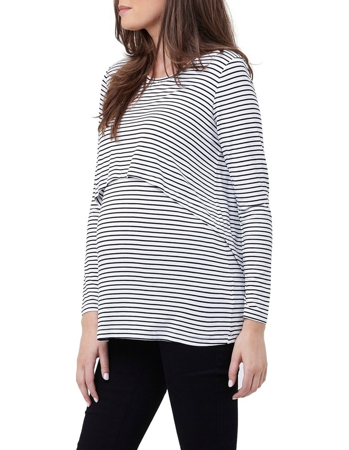 Swing Back Nursing Top- Stripe image 1