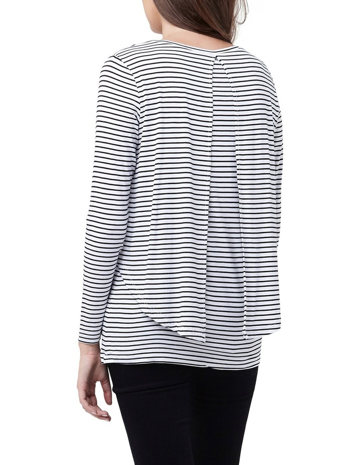 Swing Back Nursing Top- Stripe image 2
