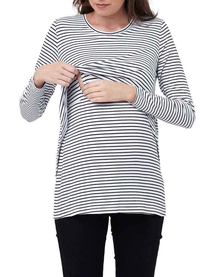 Swing Back Nursing Top- Stripe image 3