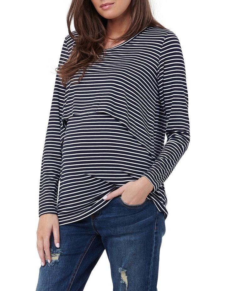 Swing Back Nursing Top- Stripe image 1