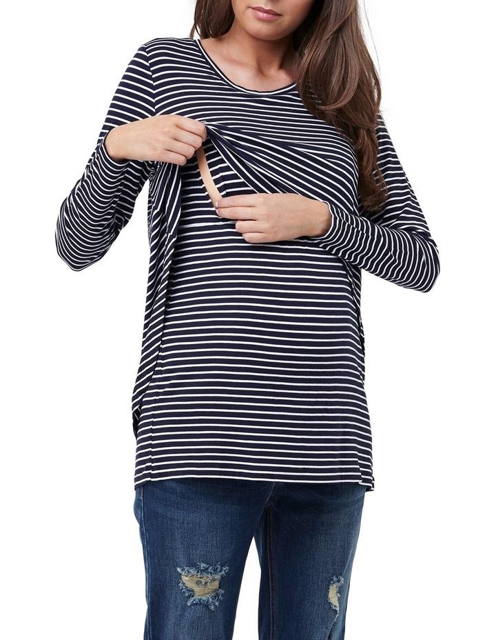 Swing Back Nursing Top- Stripe image 4