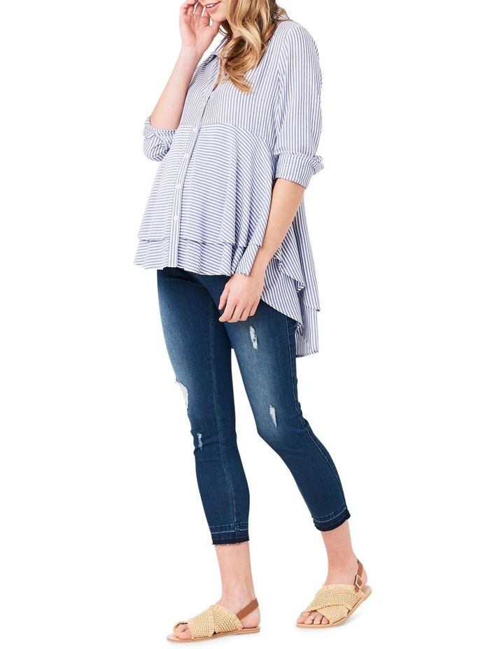Stripe Layered Peplum Shirt image 2