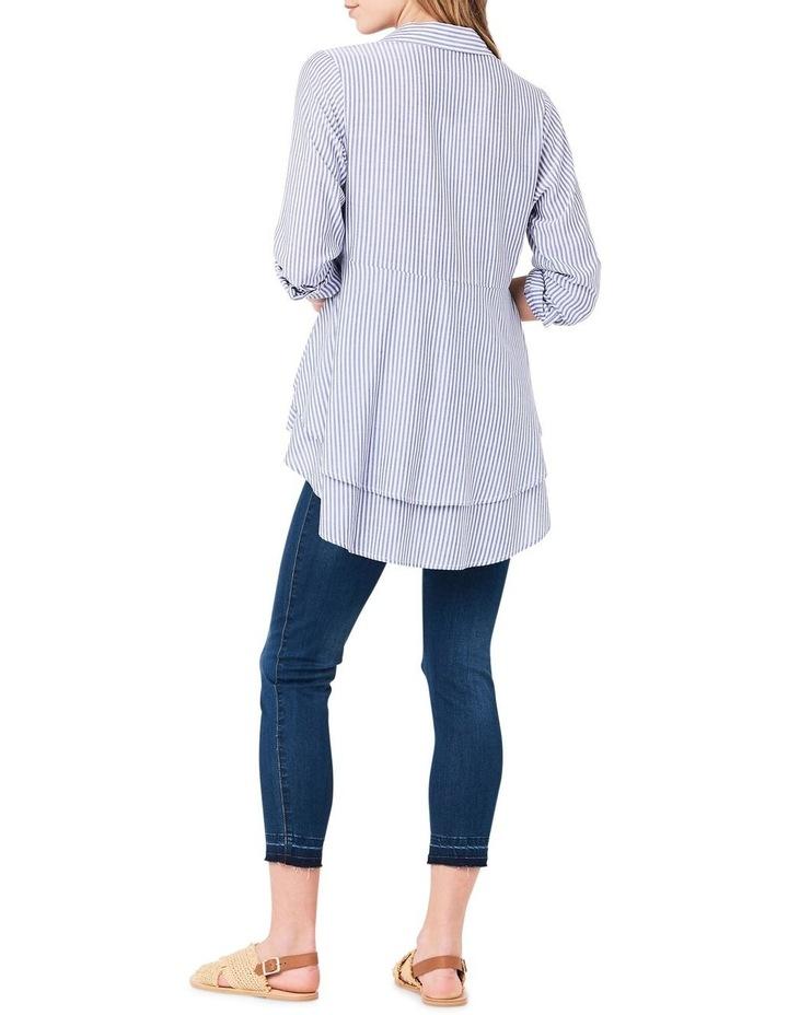 Stripe Layered Peplum Shirt image 3