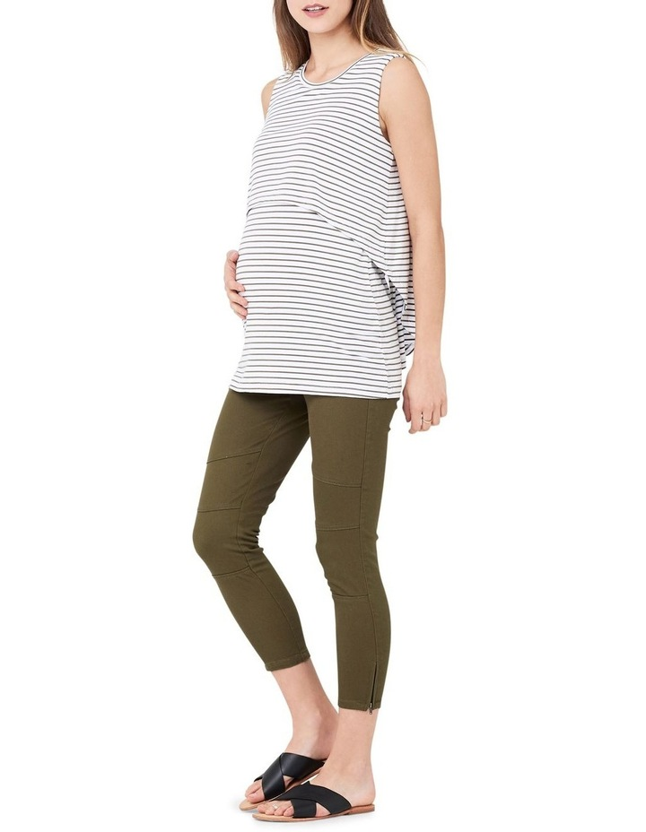 Stripe Swing Back Nursing Tank image 1