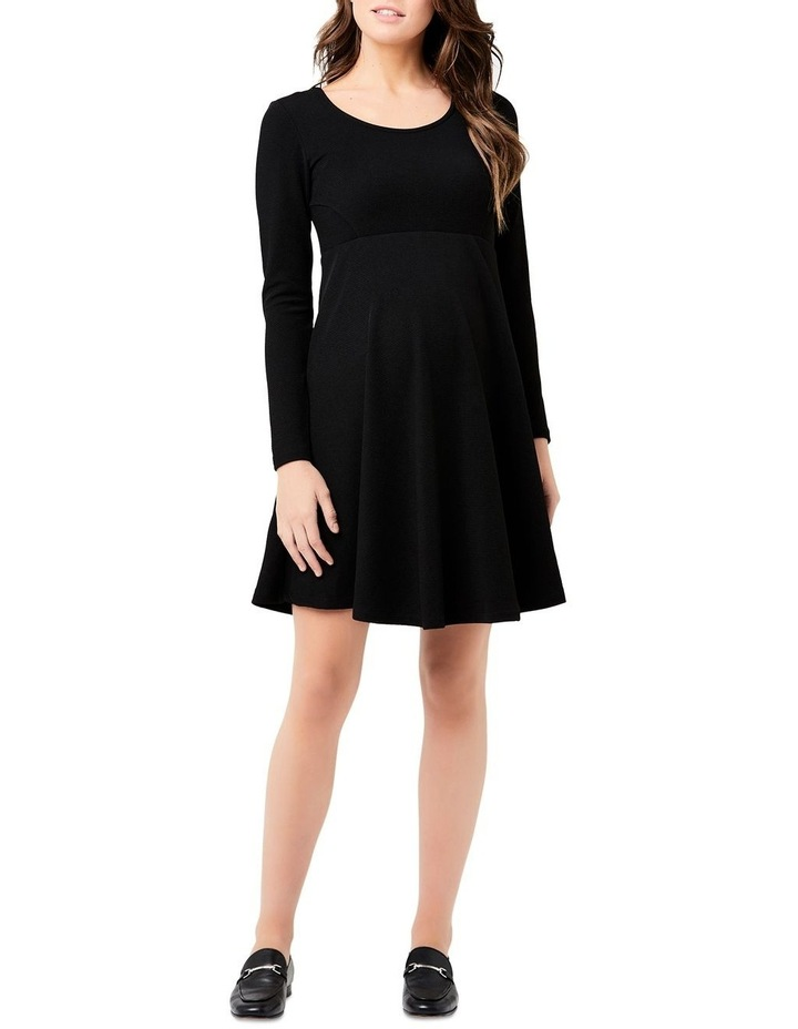 Long Sleeve Skater Dress image 2