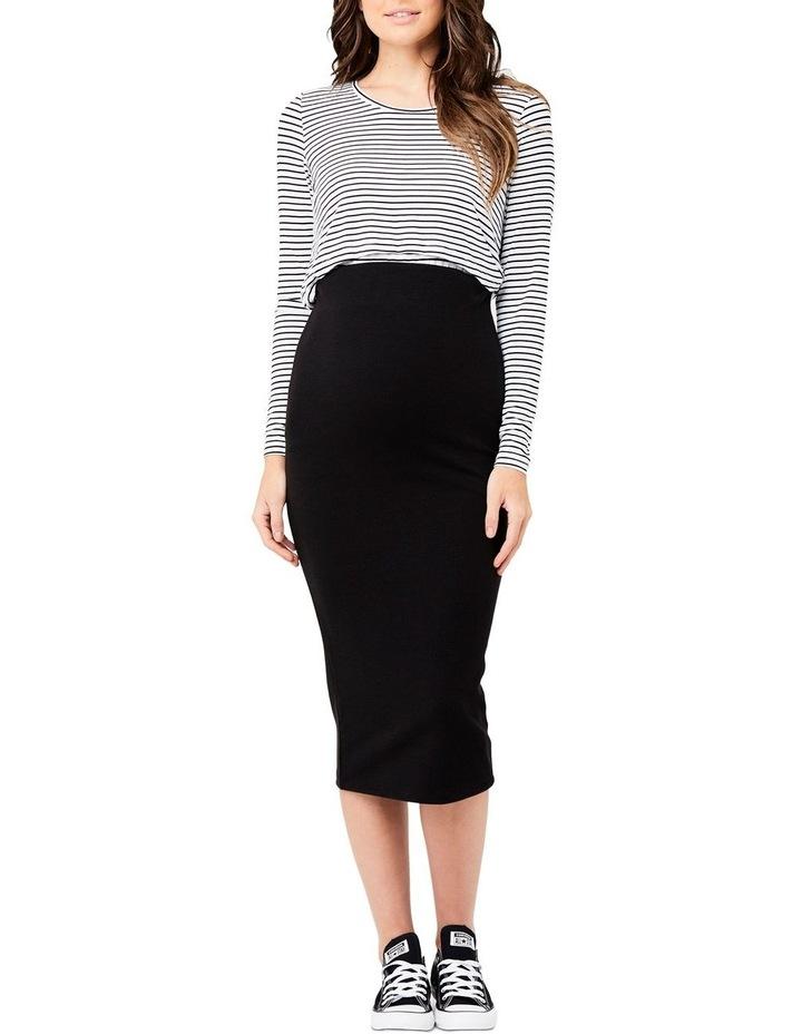 Ribbed Knit Pencil Skirt image 1