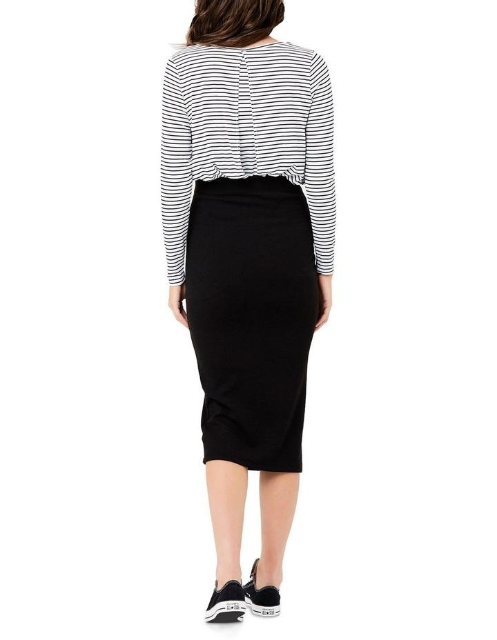 Ribbed Knit Pencil Skirt image 4