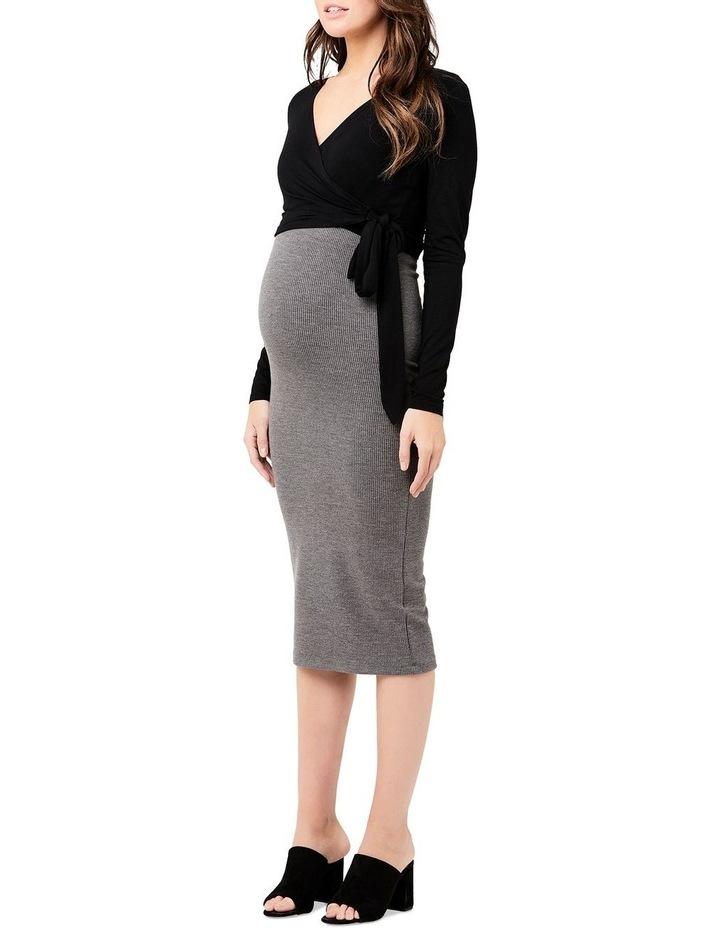 Ribbed Knit Pencil Skirt image 2