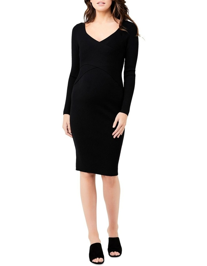 Sadie Rib Knit Nursing Dress image 1