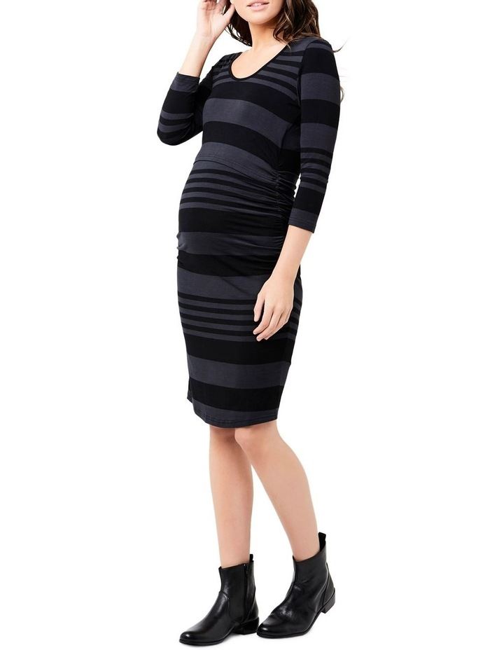Striped Nursing Tube Dress-Long Sleeve image 3