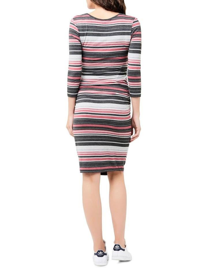 Striped Nursing Tube Dress-Long Sleeve image 4