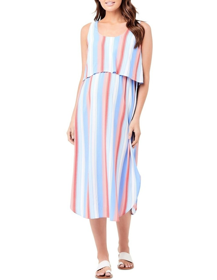 Luna Stripe Nursing Dress image 1