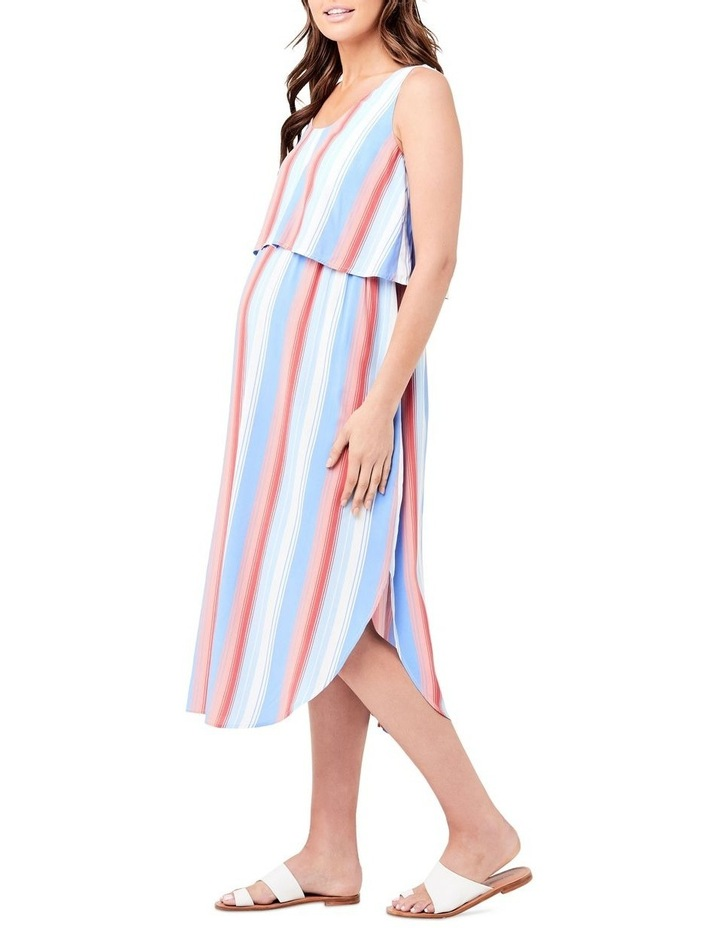 Luna Stripe Nursing Dress image 2