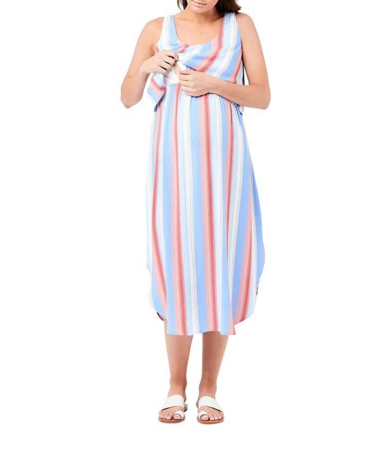 Luna Stripe Nursing Dress image 4
