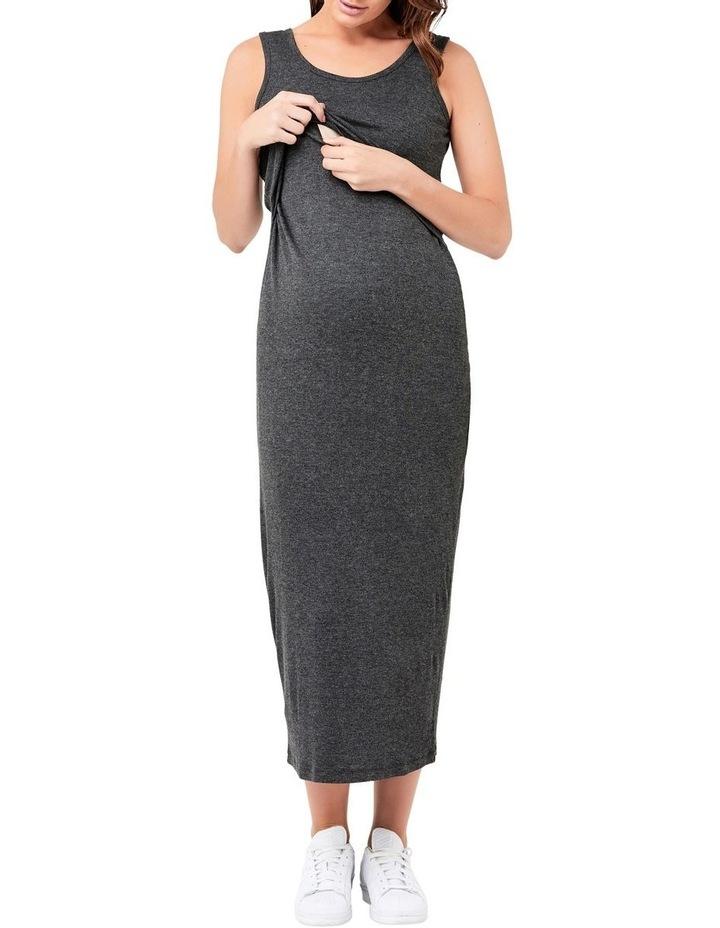 Rib Maxi Nursing Dress image 4