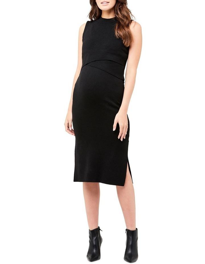 Layered Knit Nursing Dress image 1