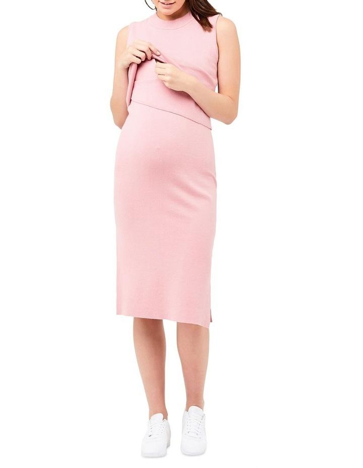 Layered Knit Nursing Dress image 4