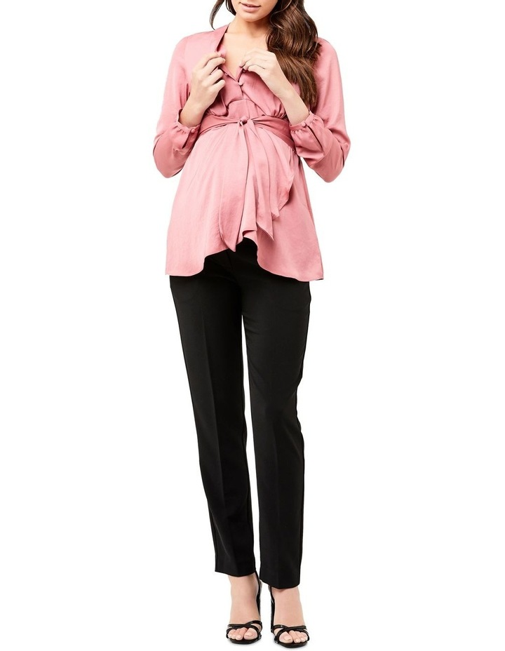 Satin Tie Front Blouse image 4