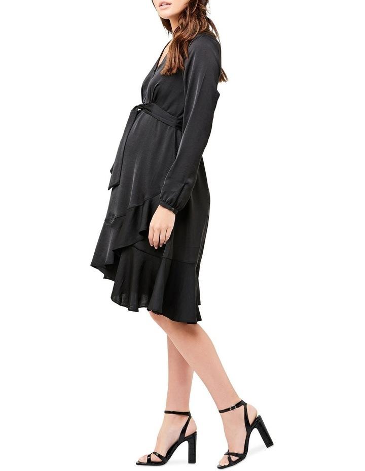 Satin Tie Front Dress image 2